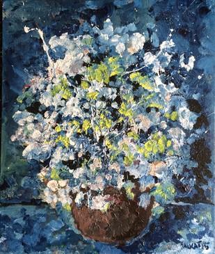 The flower vase Digital Print by Saikat Chakraborty,Impressionism