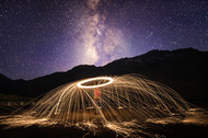 Magical Nights by Nimit Nigam, Image Photography, Digital Print on Archival Paper, Blue color