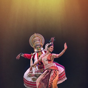 Dancer 01 by Jagjit Singh, Image Photography, Digital Print on Archival Paper, Brown color