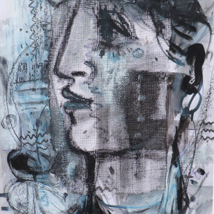 Untitled by Shekhar Kar, Expressionism Painting, Mixed Media on Board, Green color