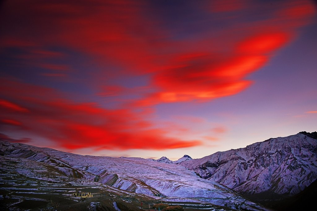 Red Sky by Jagjit Singh, Image Photography, Digital Print on Archival Paper, Blue color