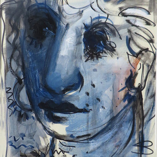 Untitled by Shekhar Kar, Expressionism Painting, Mixed Media on Board, Gray color