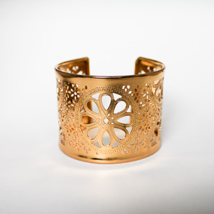 Symmetric Flower Cuff by Aara, Contemporary Bangle