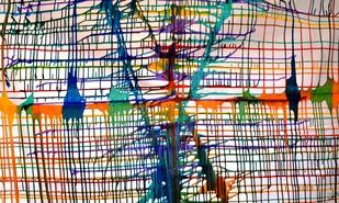 Rainbow web Digital Print by Baljit Singh Chadha,Expressionism