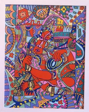 Kaali Digital Print by Amrit Khurana,Expressionism