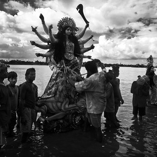 Asche Bochor Abar Hobe, She Will Return Next Year by Haran Kumar, Image Photography, Digital Print on Archival Paper, Gray color