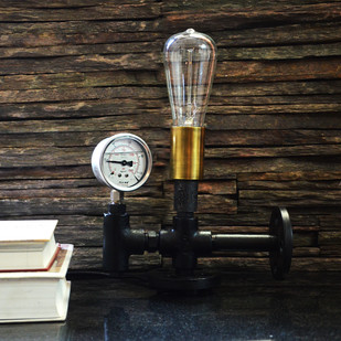 Auric Industrial Pressure Gauge Table Lamp Table Lamp By The Black Steel