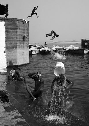 Nature Shower by Haran Kumar, Image Photograph, Digital Print on Archival Paper, Gray color