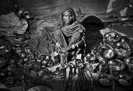 The Seller by Haran Kumar, Image Photography, Digital Print on Archival Paper, Gray color