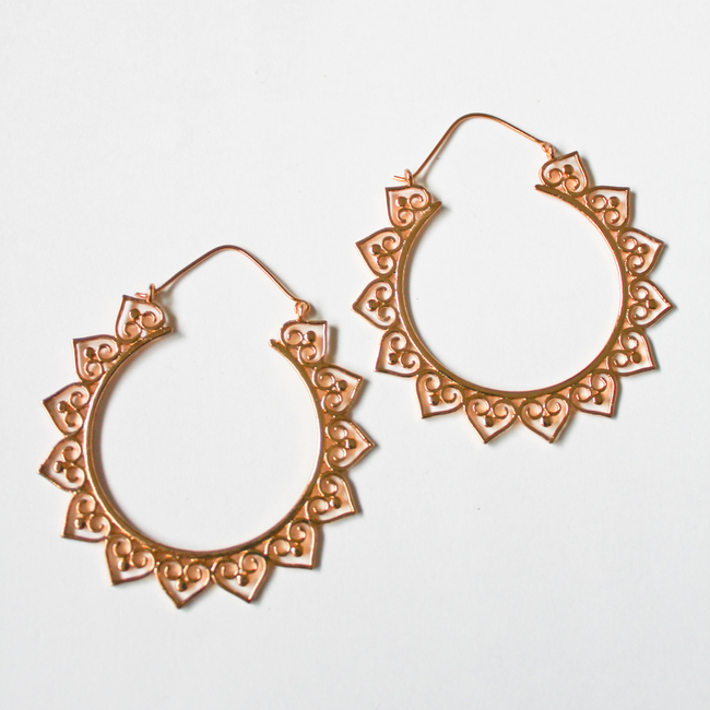 Large Hearts bali earring by Aara, Contemporary Accessories
