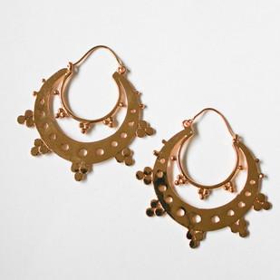 Trio cluster double hoop bali earring Earring By Aara