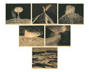 One Day It Will Come by Soghra Khurasani, Conceptual Printmaking, Etching on Paper, White color