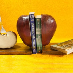 Apple Bookend Book End By THE ART SPA