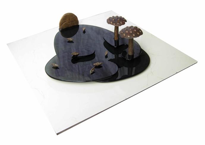Landscape by Sukanta Chowdhury, Conceptual Sculpture   3D, Bronze, White color