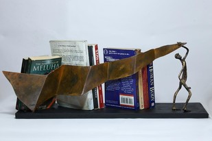 Banner Man Bookstand Book End By THE ART SPA