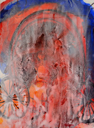 Maddonna by Rokeya Sultana, Conceptual Painting, Tempera on Paper, Brown color