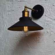 Nordic Conical Midnight Gold Industrial Wall Lamp Wall Decor By The Black Steel
