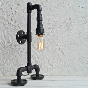 Robo Industrial Lamp v1.1 Table Lamp By The Black Steel