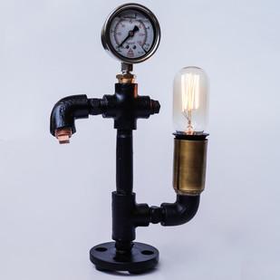 Warehouse Pressure Gauge Twisted Industrial Lamp Table Lamp By The Black Steel