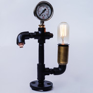 Warehouse Pressure Gauge Twisted Industrial Lamp Table Lamp By The Black Steel
