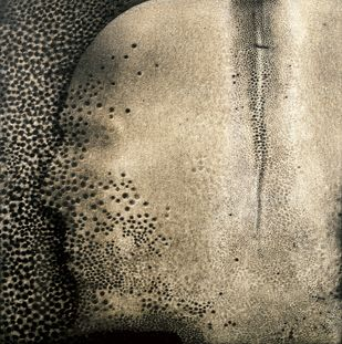 Traces of man-unknown soldier-ii - edition of 60 by Rameshwar Broota, Conceptual Printmaking, Serigraph on Paper, Beige color