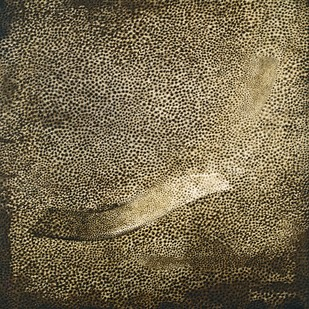 Traces of man - edition of 60 by Rameshwar Broota, Conceptual Printmaking, Serigraph on Paper, Brown color