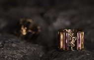 Tourmaline/Citrine Mohini Ring by Nine Vice, Contemporary Ring