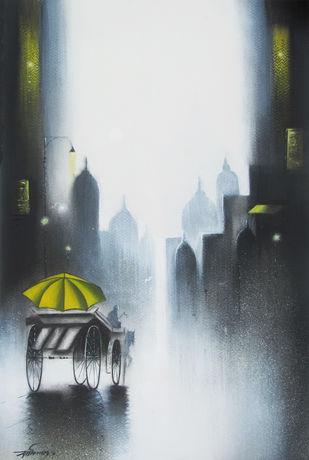 Rhythmic Monsoon Ride Artwork By Somnath Bothe