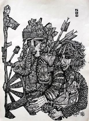 RAM AND SITA Artwork By rajshree ramesh