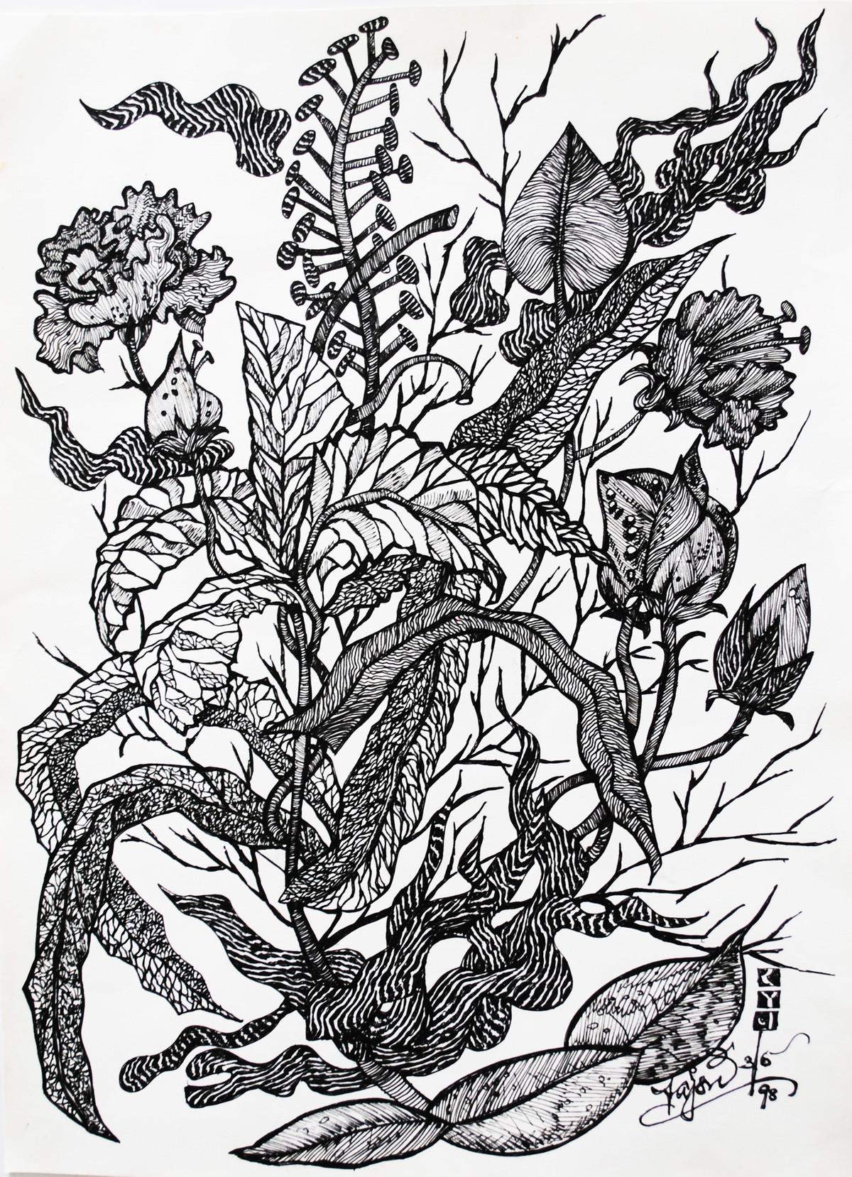 Flora And Fauna By Artist Rajshree Ramesh Illustration Drawing