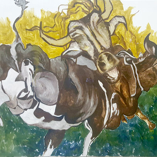 untitled by Meenakshi Katragadda, Impressionism Painting, Oil on Canvas, Beige color