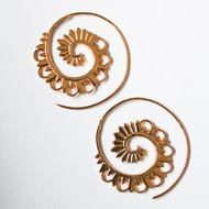 Curled flower hoops by Aara, Contemporary Earring