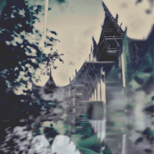 Temple And Time by Tanya Palta, Image Photography, Digital Print on Paper, Gray color