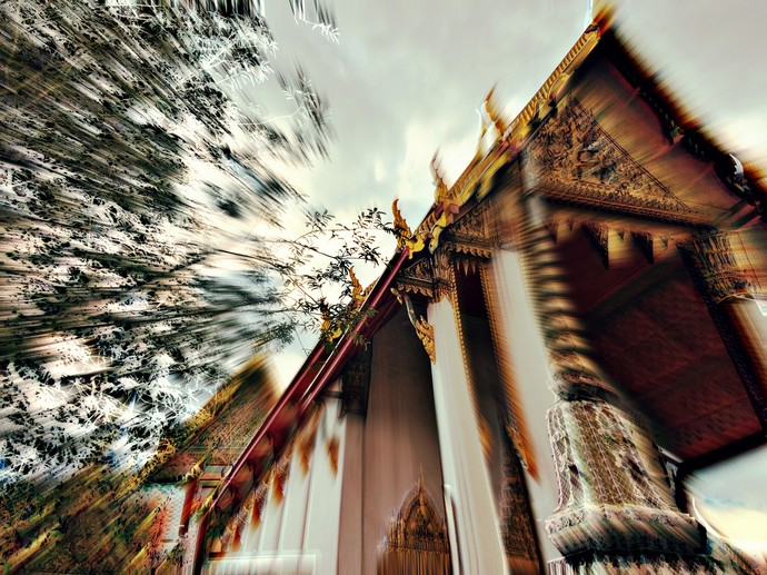 Temples In Sky by Tanya Palta, Image Photography, Digital Print on Paper, Brown color