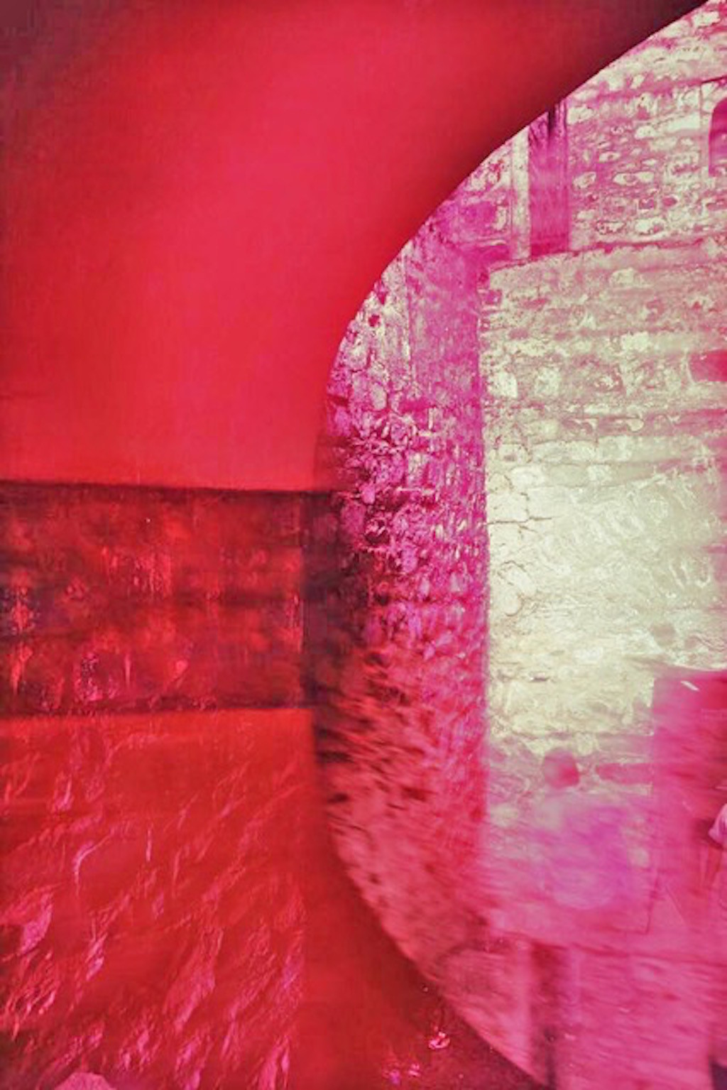 Agarsen Ki Baoli In Pink by Tanya Palta, Image Photography, Digital Print on Paper, Pink color
