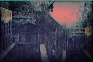 Agarsen Ki Baoli Exposed by Tanya Palta, Image Photography, Digital Print on Paper, Blue color