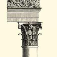 BandW Column and Cornice II Digital Print by Vision Studio,Decorative
