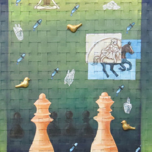golden bird Digital Print by riddhima sharraf,Conceptual