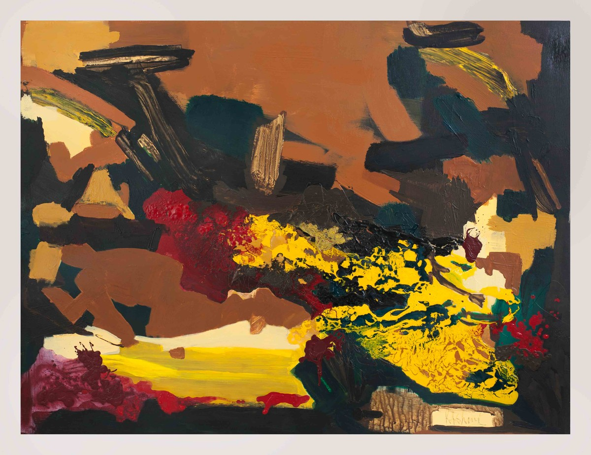 Midnight Sun-3 by Rashmi Khurana, Impressionism Painting, Acrylic on Canvas, Brown color