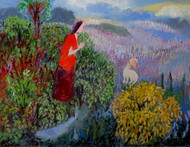 Life's garden by Aradhna Tandon, Expressionism Painting, Acrylic on Board, Green color