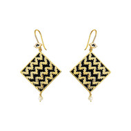 IKAT SQUARE by ESA, Contemporary Earring