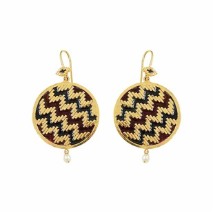 IKAT RONDELLE by ESA, Contemporary Earring