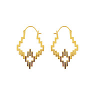 IKAT HOOP by ESA, Contemporary Earring