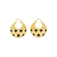 IKAT ROUND HOOP by ESA, Contemporary Earring