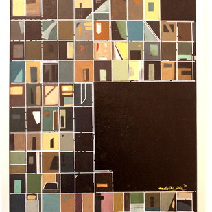 Perception III by malvika Jain, Conceptual Painting, Acrylic on Canvas, Brown color