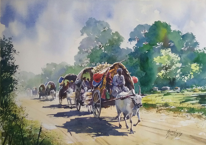 Odyssia By Artist Sunil Linus De Impressionism Painting