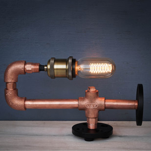 Copper CU29 Industrial Desk Lamp Table Lamp By The Black Steel