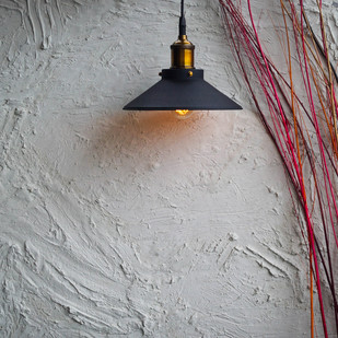 Nordic Conical Midnight Gold Industrial Pendant Ceiling Lamp By The Black Steel