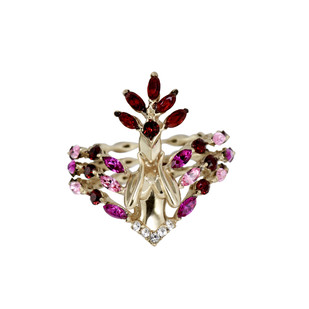 Farfreluche Ring in Swarovski by Nine Vice, Art Jewellery Ring