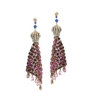 Amore Earrings in Swarovski Earring By Nine Vice